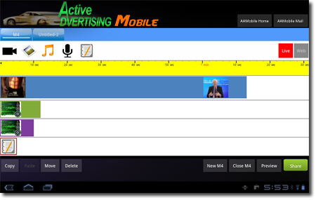 Active Advertising Mobile Movie Maker